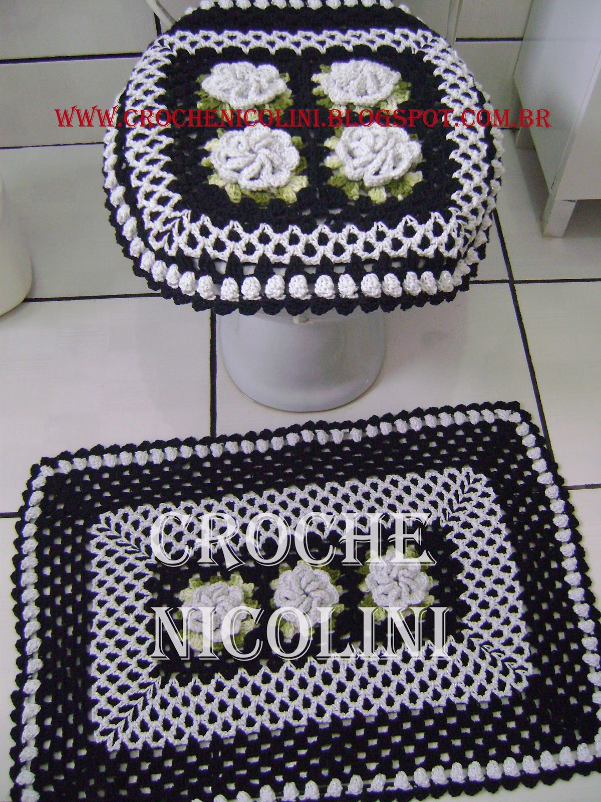 Croche Nicolini: JOGO DE BANHEIRO #7F292D 1200 1600