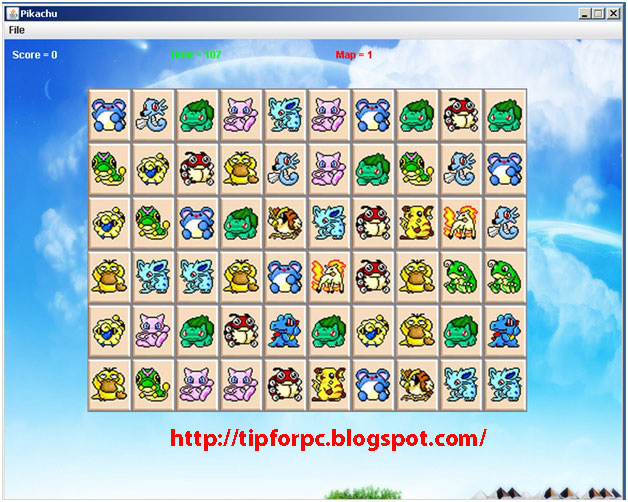 Đồ án tốt nghiệp Mã nguồn phần mềm Game pikachu bằng Java