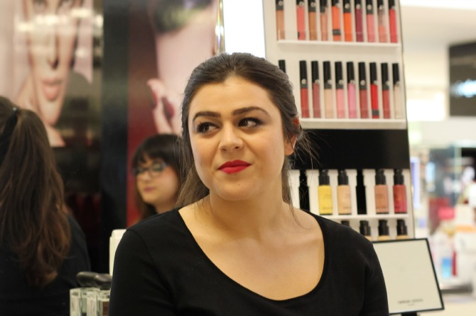 Makeup demonstrated