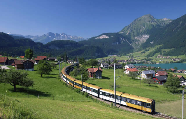 Montreux, Lucerne on the Golden Pass Train, Switzerland
