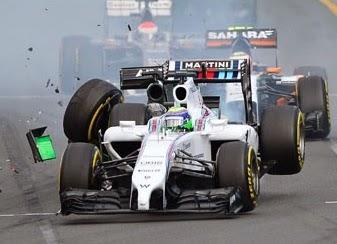 acidente na fórmula 1. Temporada 2014