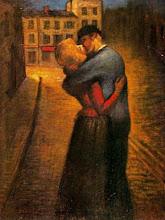 Théophile-Alexandre Steinlen, El beso, 1895