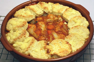 Red Lentil Cauliflower Cobbler recipes, food recipes