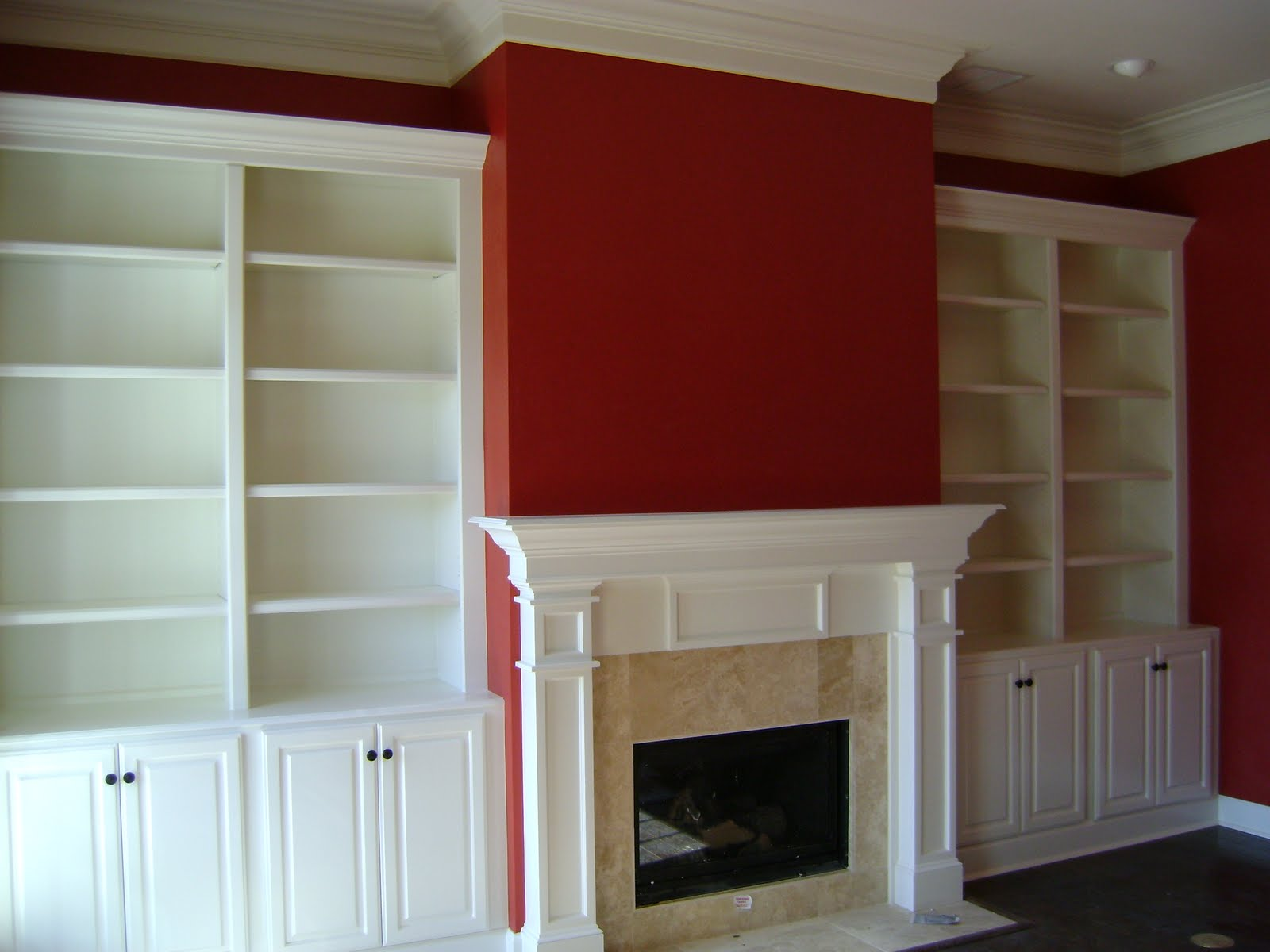 built in shelves around fireplace built in shelves around brick