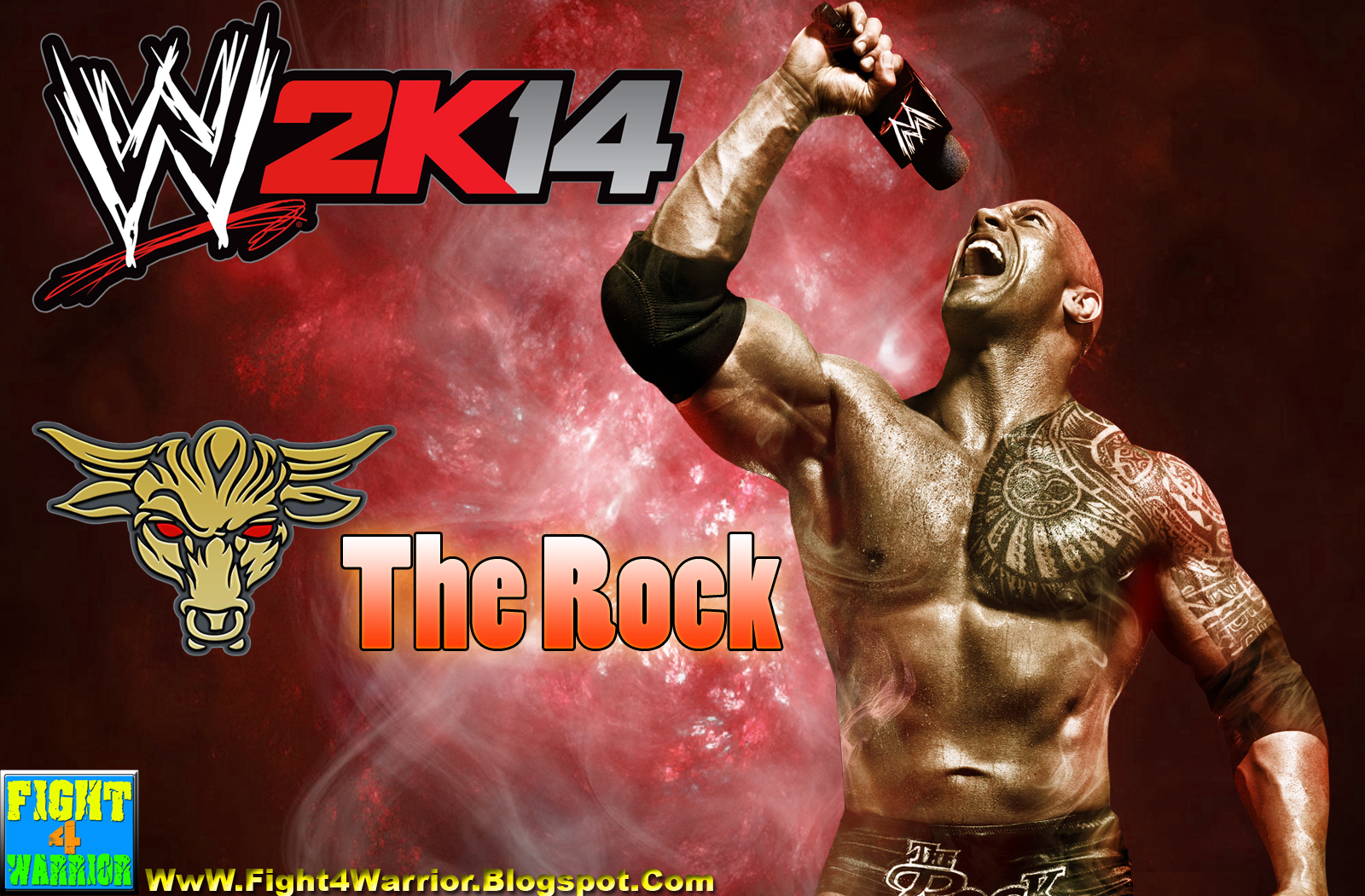 wwe the rock 2k14 | onlygfx | free hd desktop wallpapers for pc