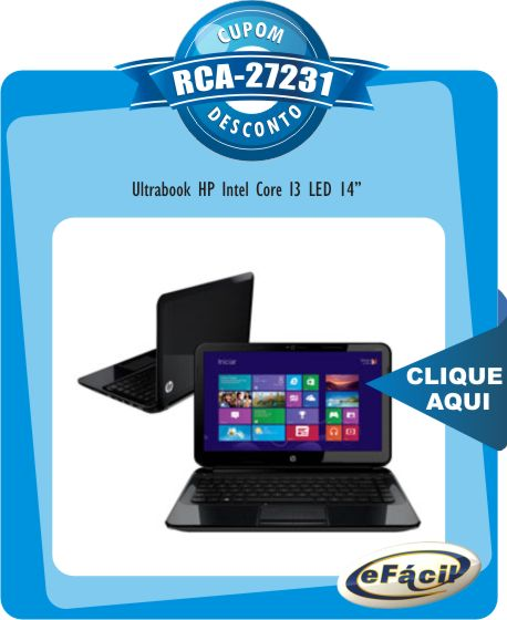 Ultrabook HP B060BR Intel Core I3 LED 14