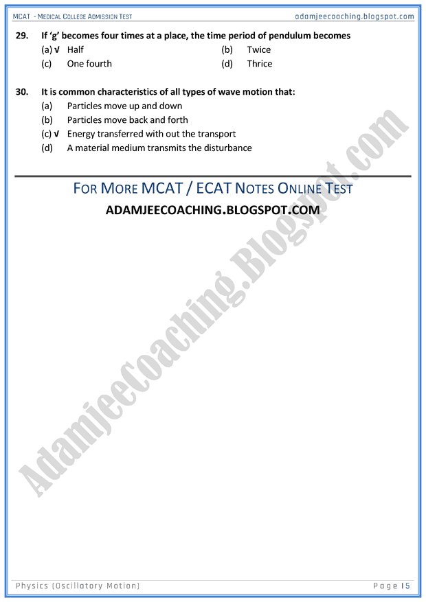 mcat-physics-oscillatory-motion-mcqs-for-medical-entry-test
