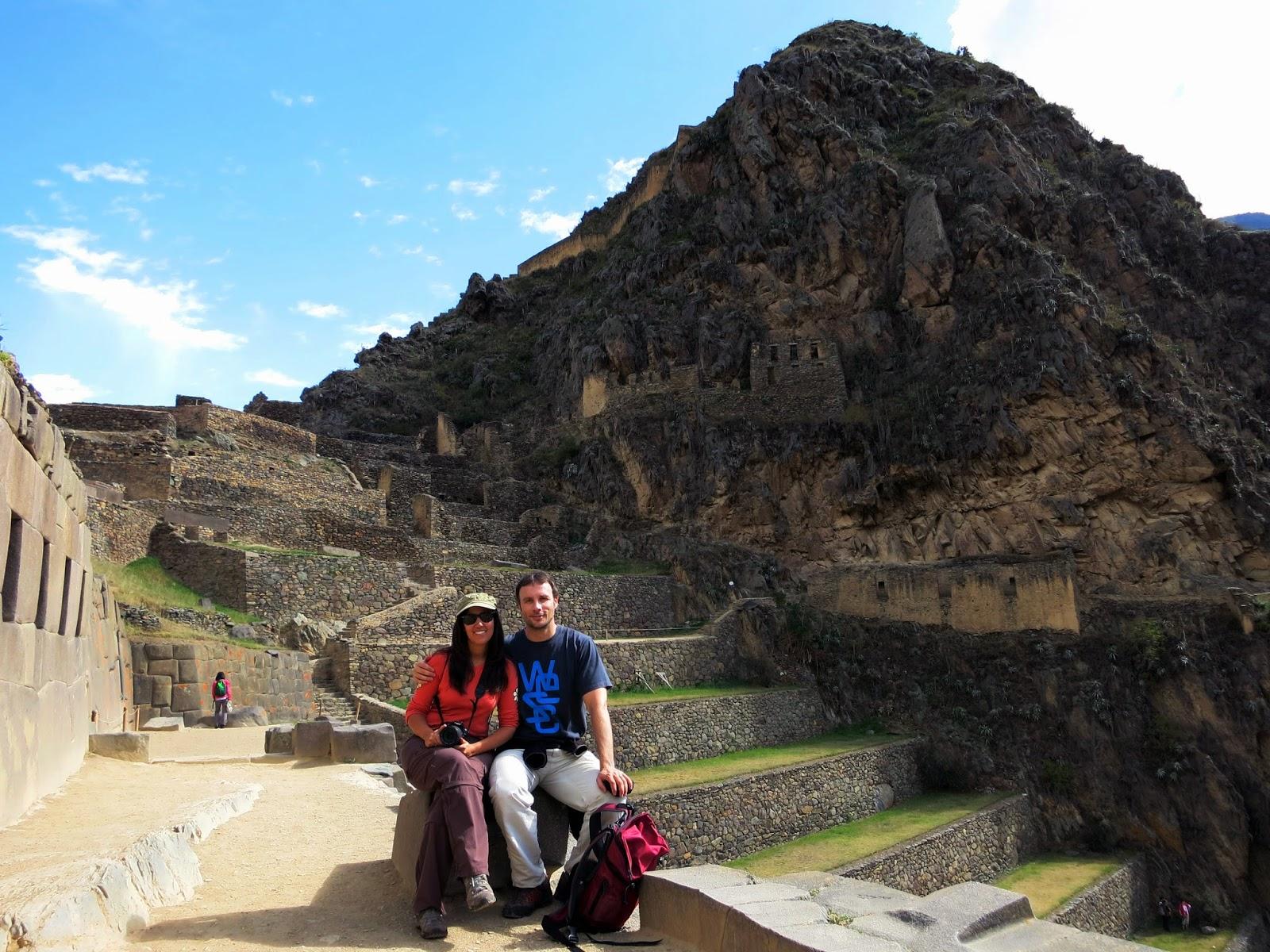 Templo del Sol en Ollantaytambo.