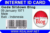 ID Card Gede Sitdown Blog
