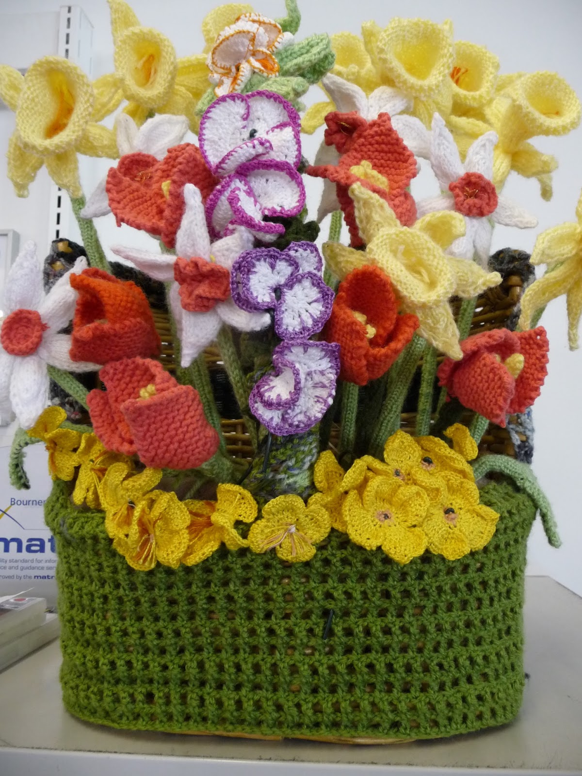 Blooming Marvellous ~ community knitted garden