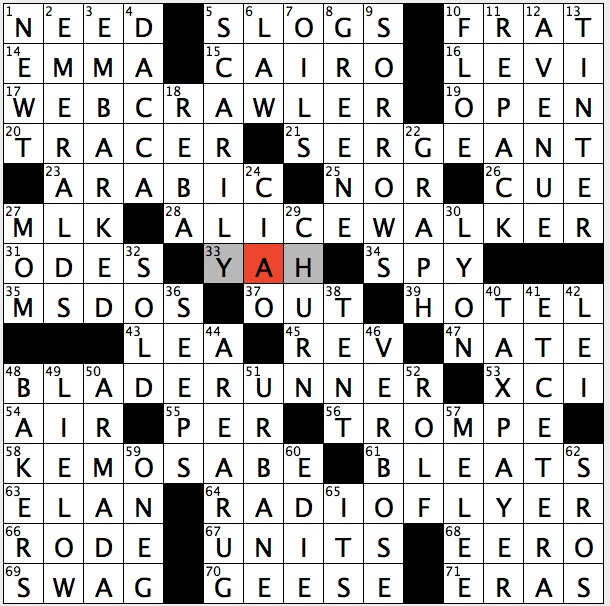 Rex parker does the nyt crossword puzzle bot that for Century plant crossword clue