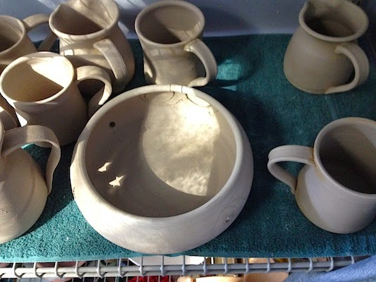 Drying Pottery by Future Relics Gallery