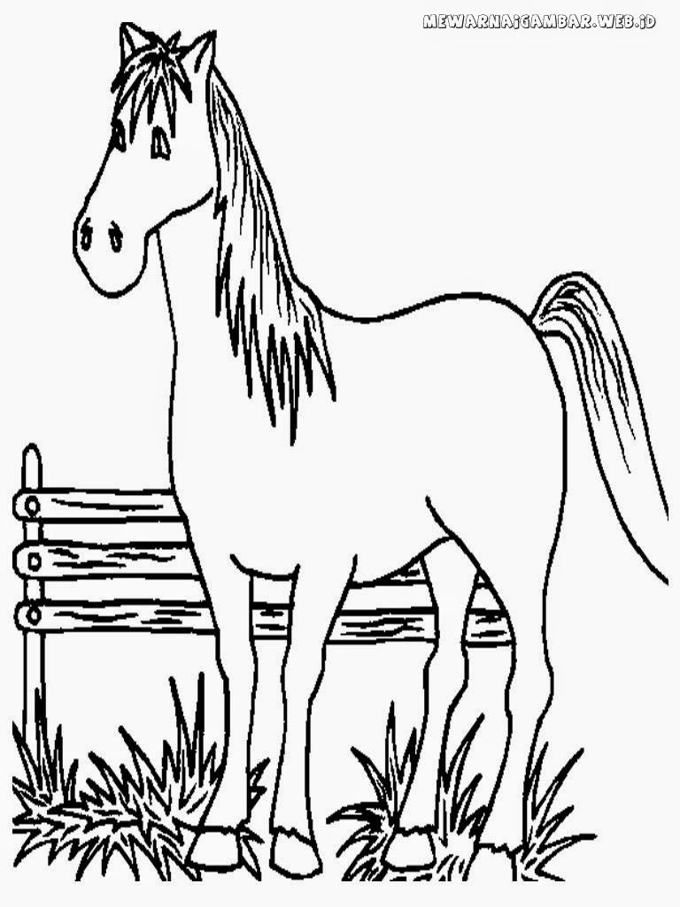 mewarnai gambar kuda ternak