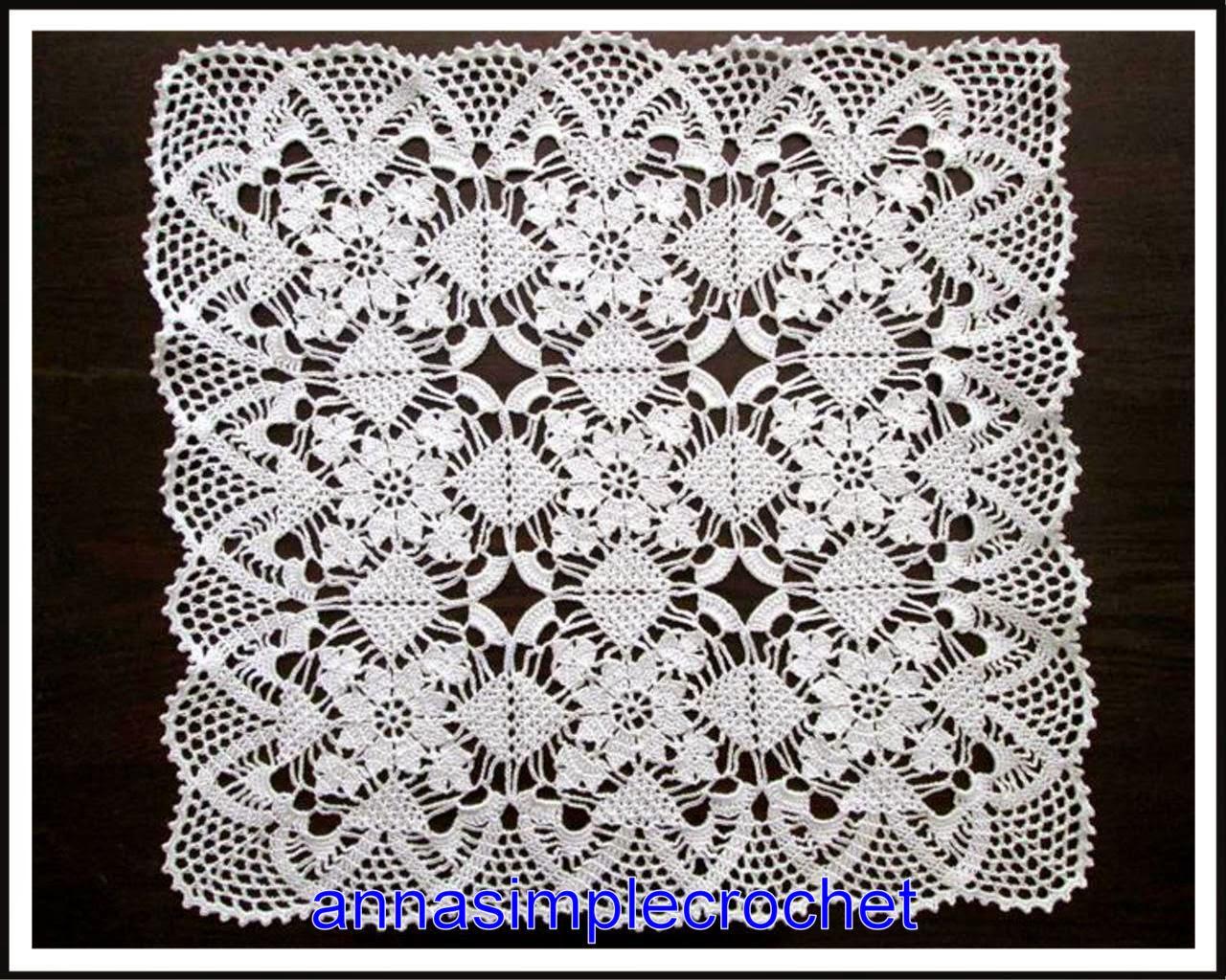 Grand Napperon Au Crochet pour annasimplecrochet: napperon carré