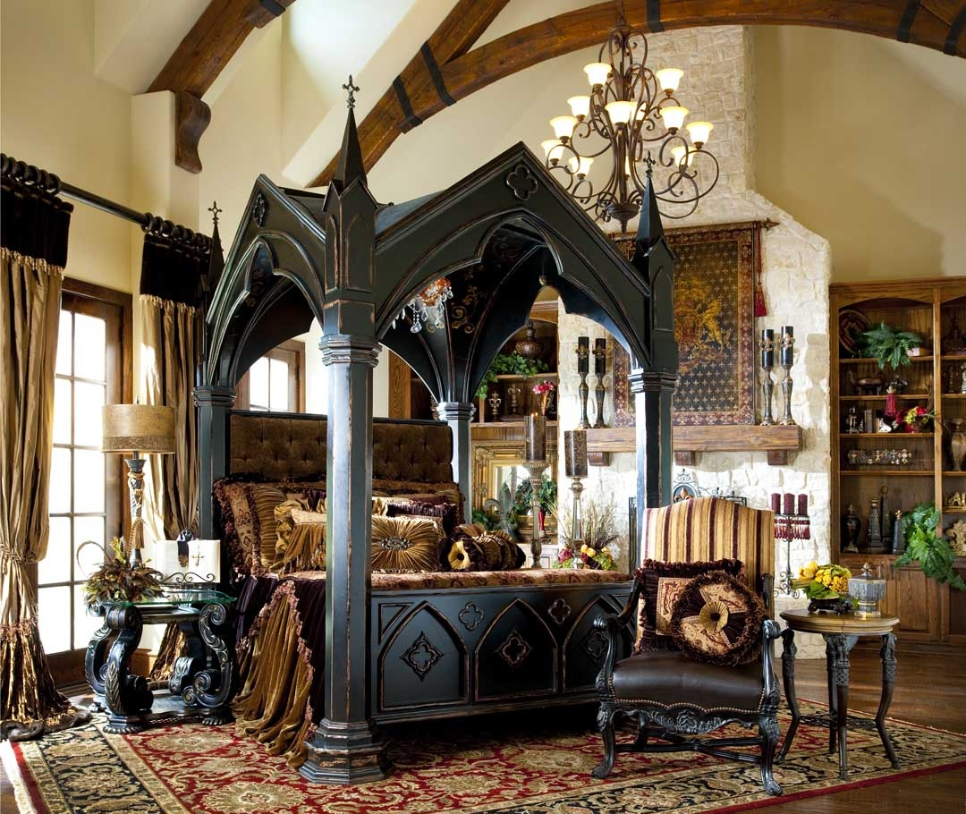 Bernadette Livingston Furniture Bring Home Gothic Castle Bed To Complement Your Bedroom