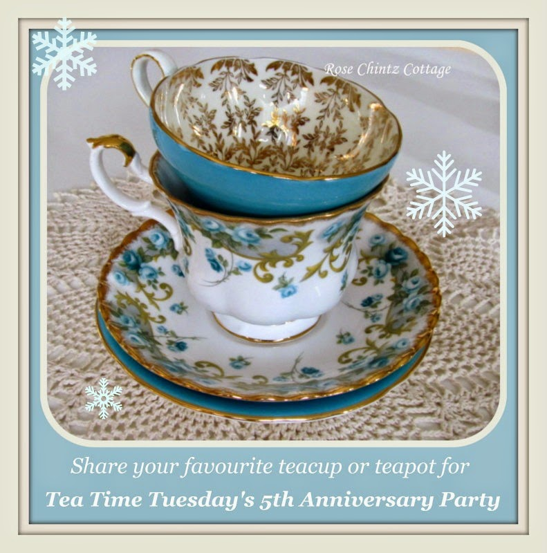 Come and join me the week of January 26th to help me celebrate Tea Time Tuesday's 5th Anniversary
