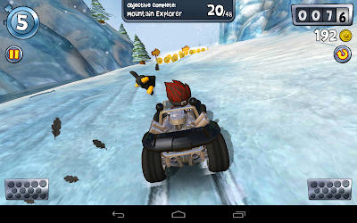 Beach buggy blitz the racing game: On snowy mountain
