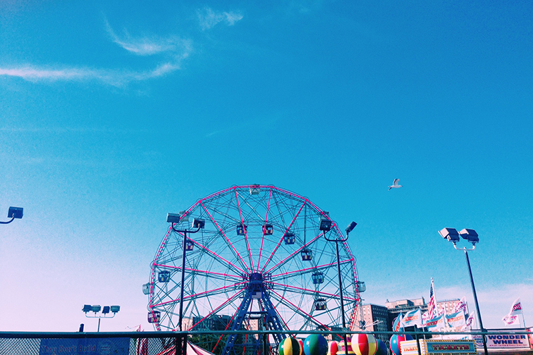 Coney Island Wonder Wheel at Luna Park, Brooklyn New York