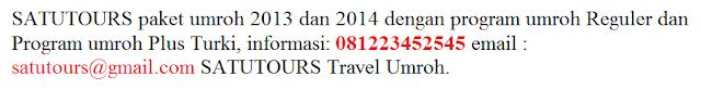 Info Paket Umroh Plus Istanbul 2014