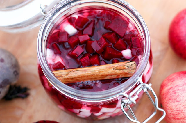 Lacto-Fermented Cinnamon, Apple & Beetroot