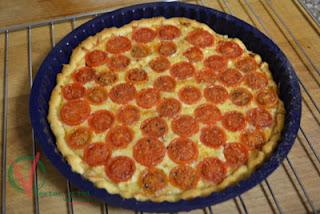 pastel De Tomates Cherry A La Mostaza