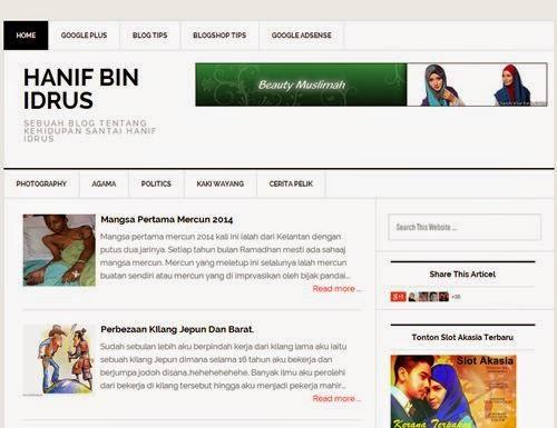 Hanif Idrus New Templates 2014