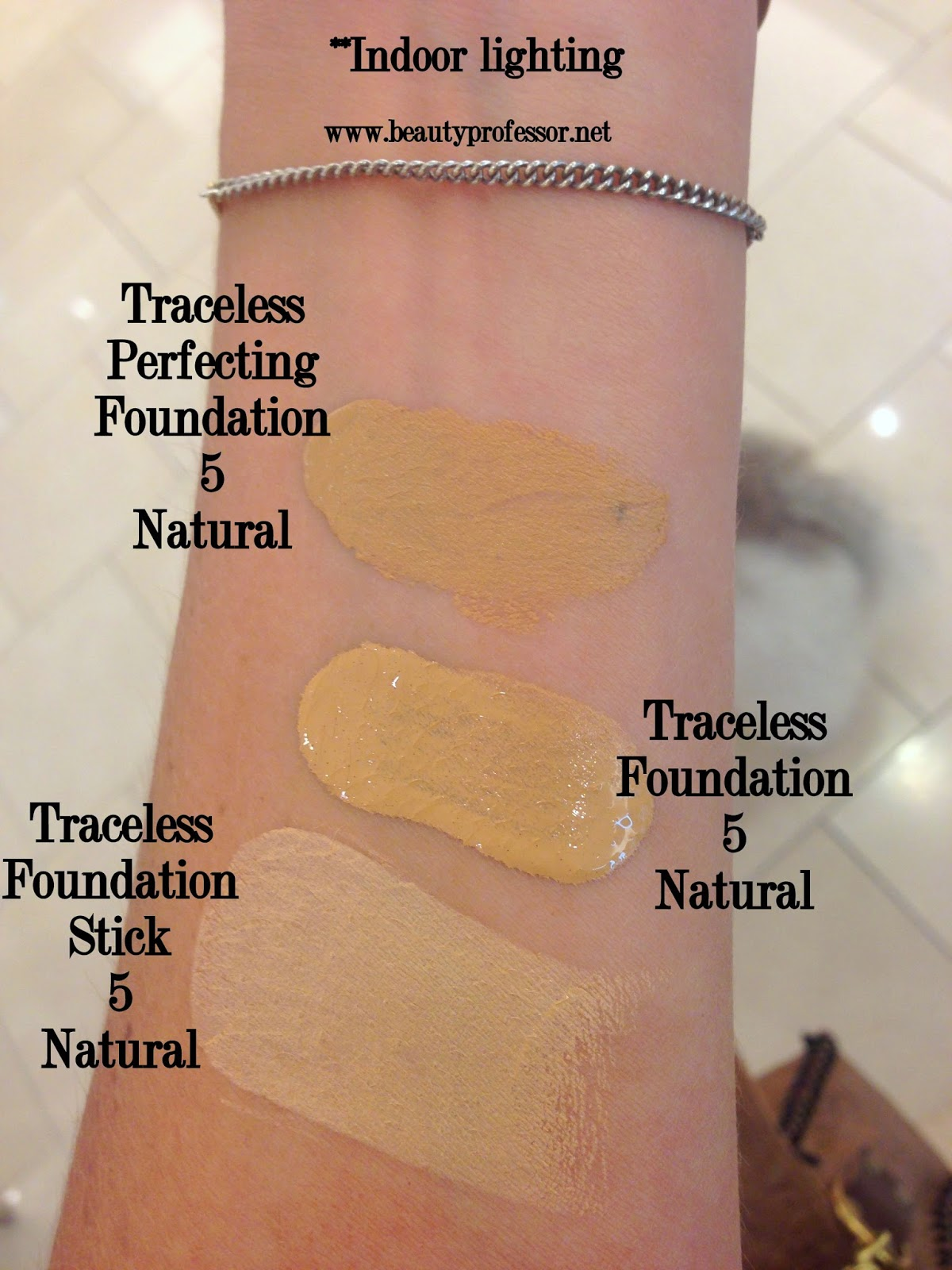 Tom Ford traceless perfecting foundation swatches