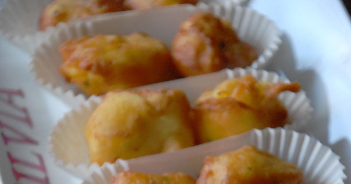 Buñuelos de bacalao con pasta choux y mayonesa de miel: Chez Silvia