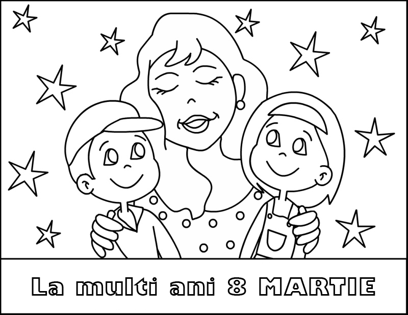 Doi iepurasi for Happy mothers day coloring pages for kids