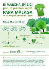 III Marcha en Bici por un Bosque Urbano para Málaga