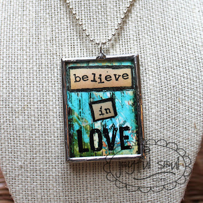 Believe in Love Charm Necklace, www.ajoyfulsoul.com