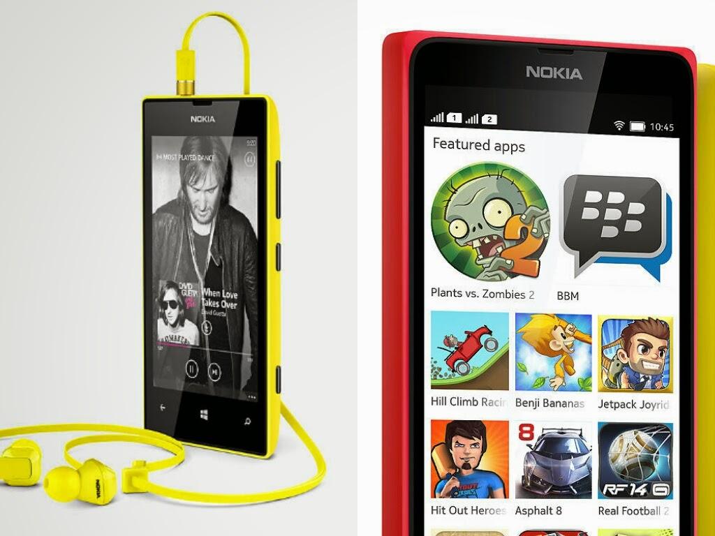 Membandingkan Nokia Lumia 520 Vs Nokia X