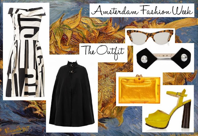 Amsterdam-inspired fashion outfit in Van Gogh yellow