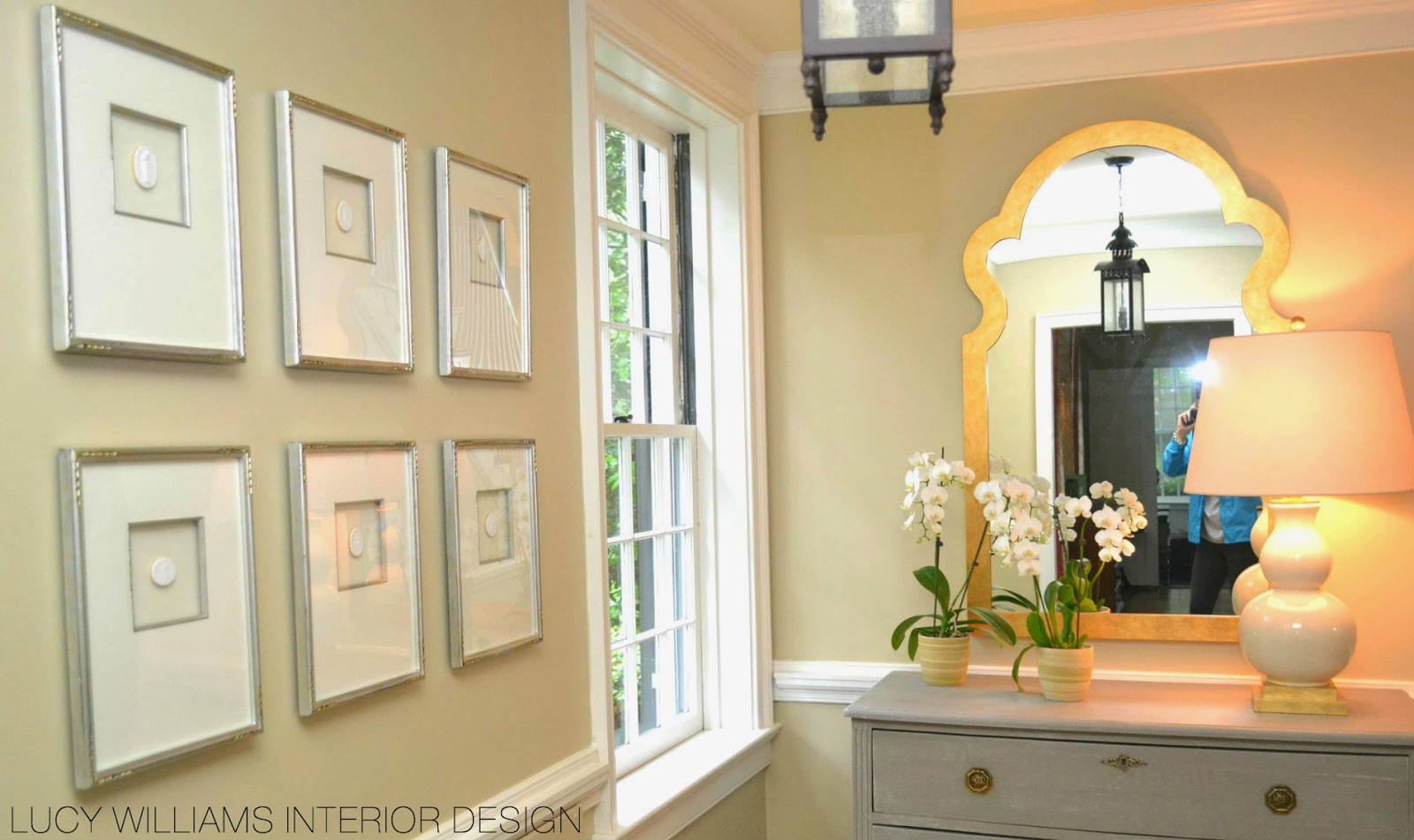 This intaglios series really helped to widen the wall for Lucy williams interiors
