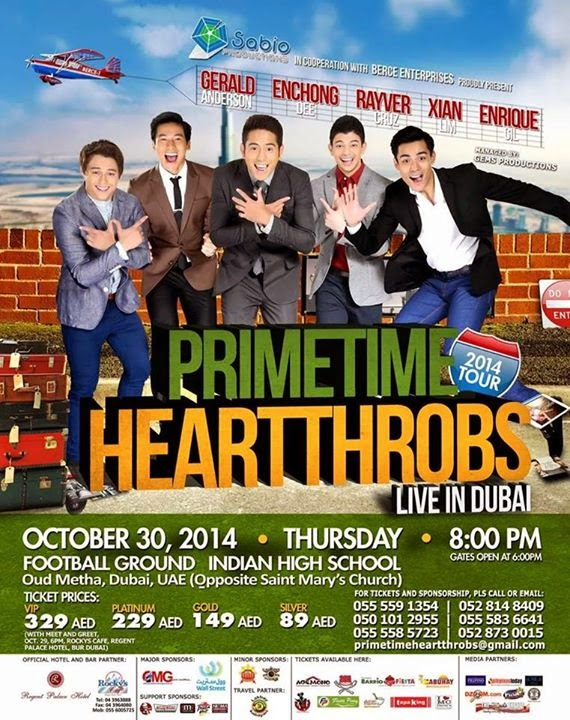 Primetime Heartthrobs Live in Dubai