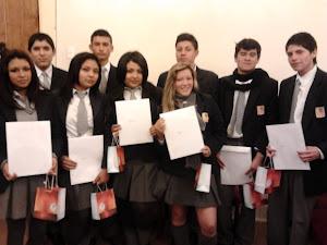 Los alumnos Preseleccionados de nuestro Liceo Bicentenario, los mejores alumnos promedios sobre 6.0
