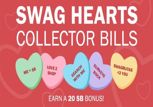 Swagbucks Swag Hearts Collectors Bills