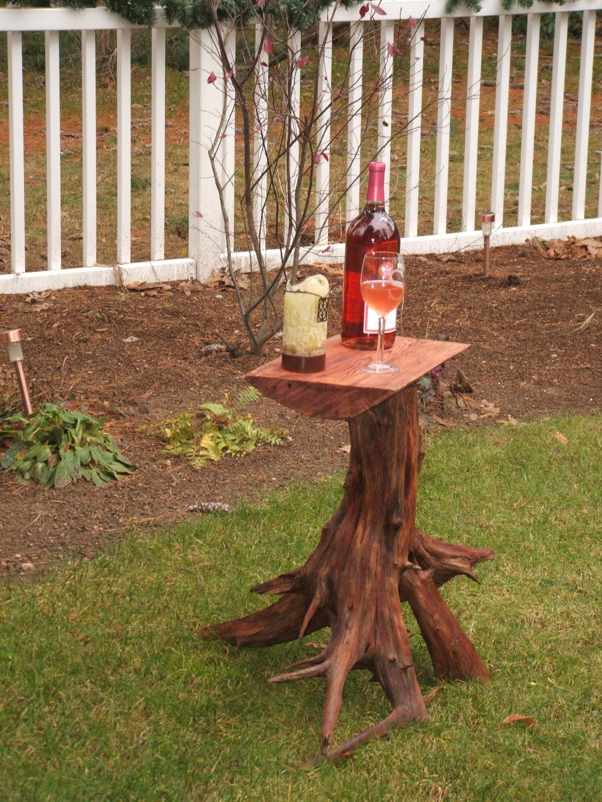 Flat River Furniture Tree Stump Side Table