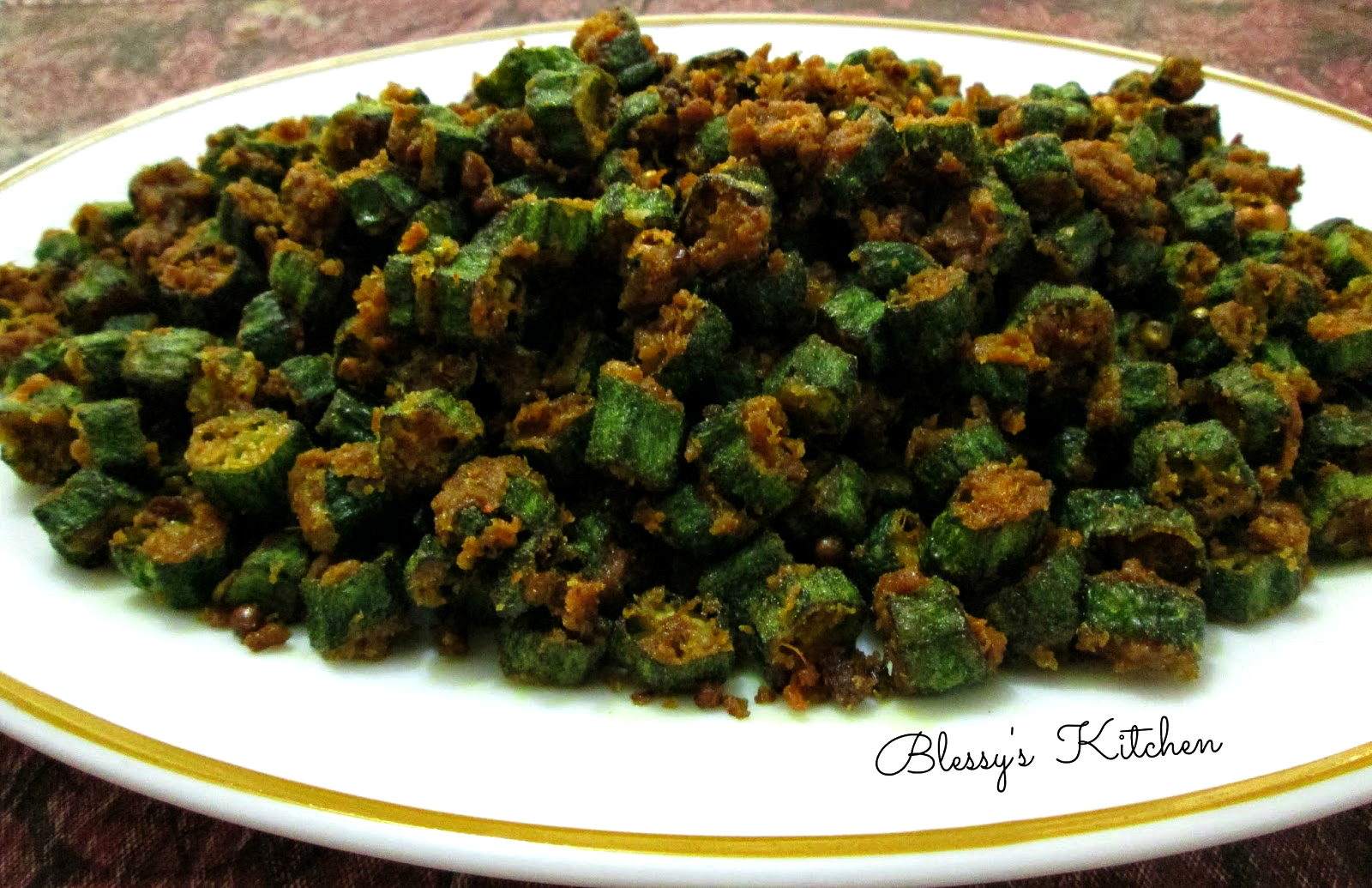 how to make fried okra with flour