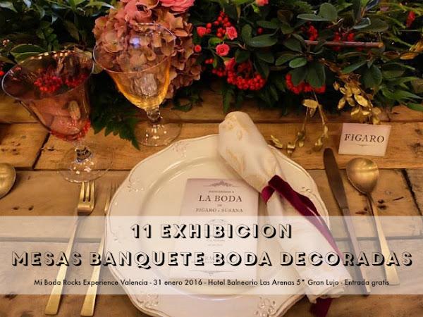 Exhibición Mesas Banquete de Boda MBRE Valencia 2016