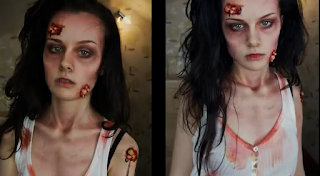 zombie halloween makeup style for girls