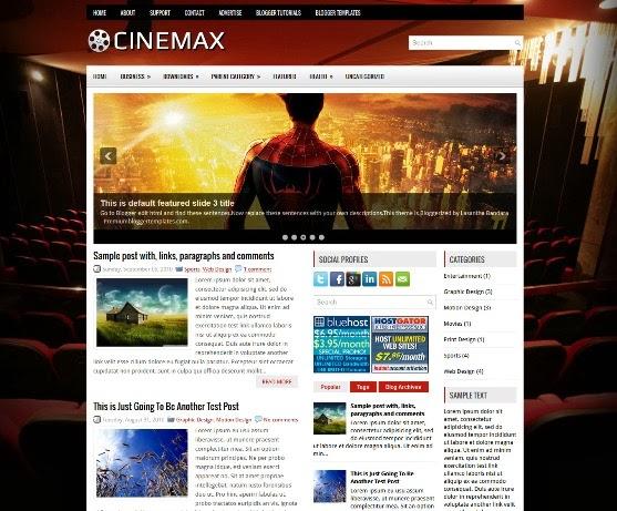 Cinemax Blogger Template