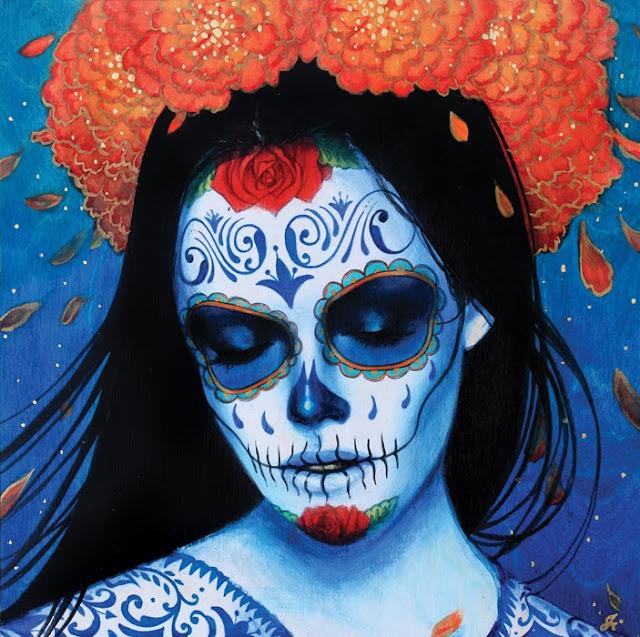 Tatuaje de la Santa Muerte por Sylvia Ji