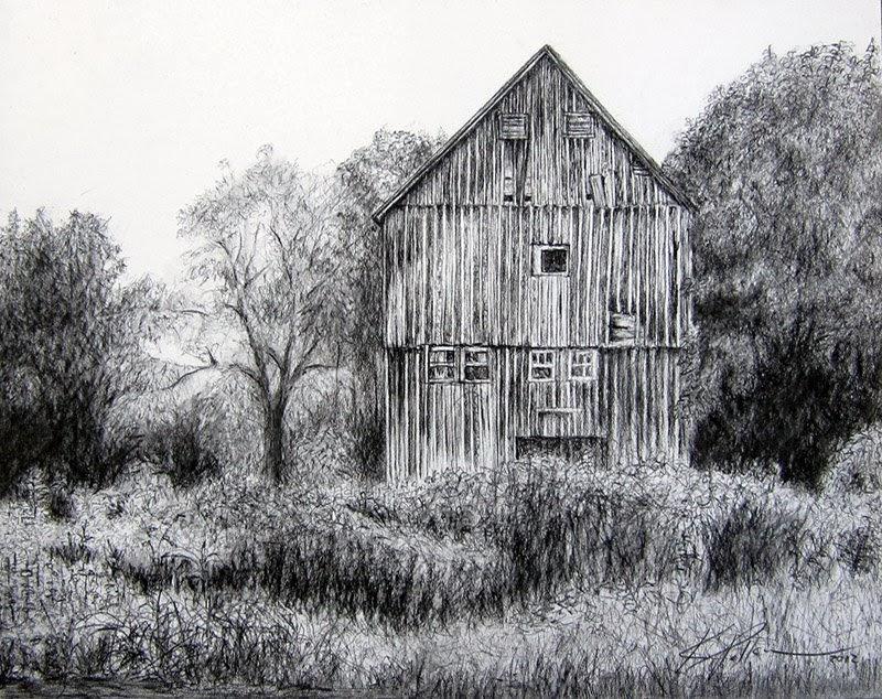 landscape charcoal sketches - photo #33