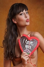 Lorena G. in A Sweet Heart For Valentines Day - FEMJOY