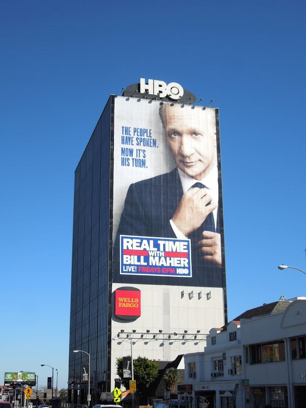 Giant Real Time Bill Maher HBO billboard