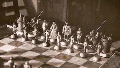 Segundo juego de ajedrez, piezas negras