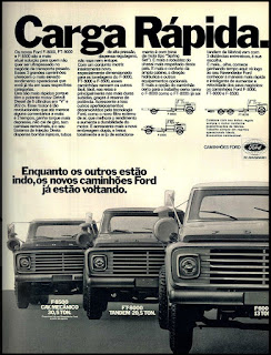 propaganda  caminhões Ford - 1977; Ford trucks; trucks; brazilian cars; reclame de carros anos 70. brazilian advertising cars in the 70. os anos 70. história da década de 70; Brazil in the 70s; propaganda carros anos 70; Oswaldo Hernandez;