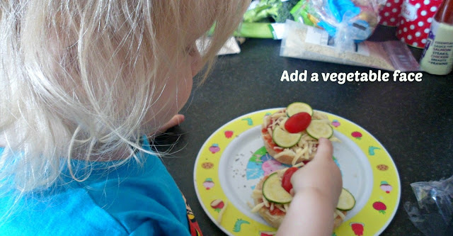 Cooking with toddlers - vegetable face