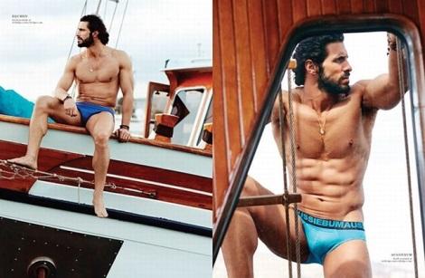 Georgios Parashos in his underwear